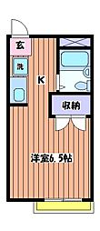 コーポルグラン[1階]の間取り