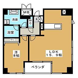 グラン・アベニュー栄[8階]の間取り