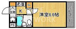 DETOM-1衣笠[208号室号室]の間取り