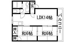 ロ・アール桜台[1階]の間取り