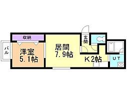 ESQUISSE24軒 2階1LDKの間取り