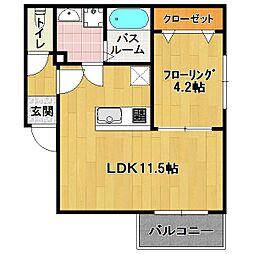 リテラ 箱崎[1階]の間取り