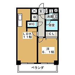 プレサンス名古屋STATIONアブソリュート[13階]の間取り