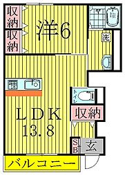 レリーフII[1階]の間取り