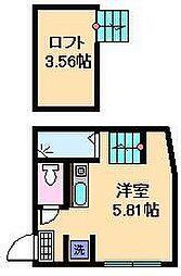 東京都足立区千住旭町1丁目の賃貸アパートの間取り