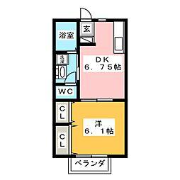パストラルコート H棟[2階]の間取り