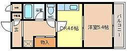 大阪府堺市西区鳳南町5丁の賃貸マンションの間取り