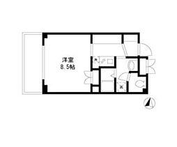 JR山手線 大塚駅 徒歩4分の賃貸マンション 4階1Kの間取り