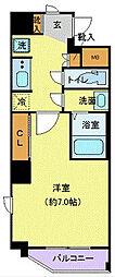 JR山手線 池袋駅 徒歩8分の賃貸マンション 9階1Kの間取り