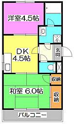 セジュール・ド・ミワ壱番館[3階]の間取り