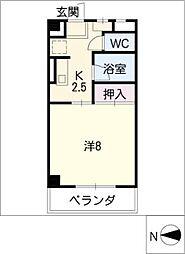 ハイネス21[1階]の間取り