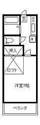 国立やまひこ[201号室]の間取り