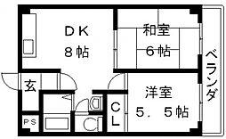 湊川マンション[302号室号室]の間取り