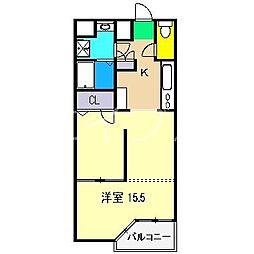 EXT A棟[3階]の間取り