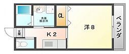 シャルム萱島[5階]の間取り
