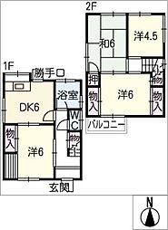 [一戸建] 愛知県春日井市乙輪町1丁目 の賃貸【/】の間取り