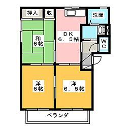 サンシャイン八丁 A棟[2階]の間取り