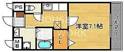 プレステージ太秦[106号室号室]の間取り