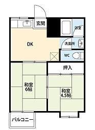 男川駅 3.5万円