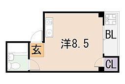 大阪府東大阪市中小阪1丁目の賃貸マンションの間取り