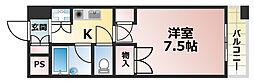植田マンション城内[5階]の間取り