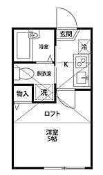エバグリーン[2階]の間取り