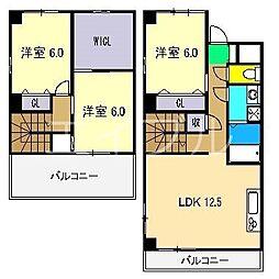 ラコント 南棟[3階]の間取り