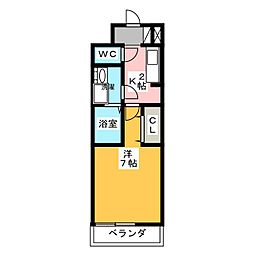 レガルシーII[2階]の間取り