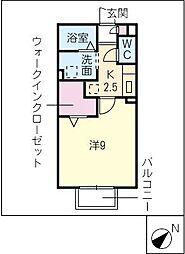 クレール翔[2階]の間取り