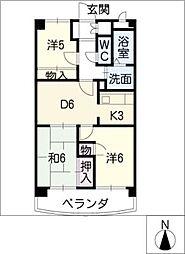 大昂ビル6[4階]の間取り