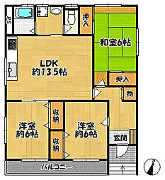 アーブル・ベール2[1階]の間取り