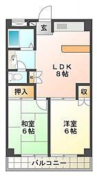 ベルハイツ恋ヶ窪[2階]の間取り