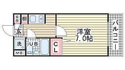 シェスタ白川台[4階]の間取り