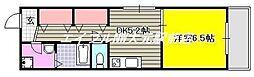 COCO新屋敷[1階]の間取り