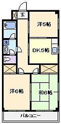 ヨコタハイツ[2階]の間取り