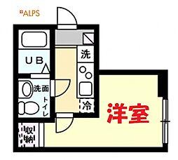 JR京浜東北・根岸線 磯子駅 徒歩9分の賃貸アパート 3階1Kの間取り