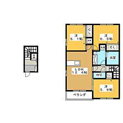 グランビューソニック A棟[2階]の間取り