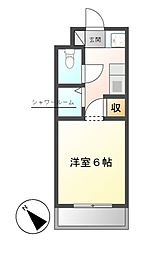 NS ZEAL東別院[7階]の間取り