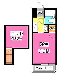 ハイム都(ミヤコ)[2階]の間取り