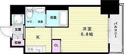 ファーストフィオーレ神戸元町 3階1Kの間取り
