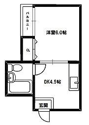 レクシア西中島II[5階]の間取り
