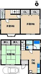 [テラスハウス] 神奈川県川崎市幸区小倉2丁目 の賃貸【/】の間取り