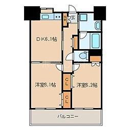 LUCIS高宮[13階]の間取り