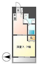 T's Dream名駅(ティーズドリーム名駅)[7階]の間取り