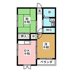 ヴィアーレ大泉閣[3階]の間取り