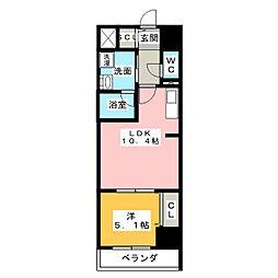 ロイジェント新栄III[6階]の間取り