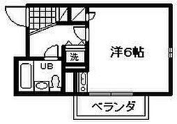 シャルマンフジ忠岡弐番館[203号室]の間取り
