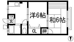 安倉荘モナム1[2階]の間取り