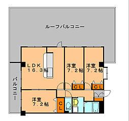 第5元木ビル[6階]の間取り