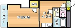 キャッスル折尾[2階]の間取り